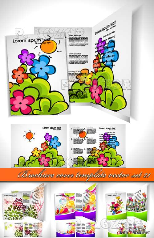 Обложка брошюры 21 | Brochure cover template vector set 21