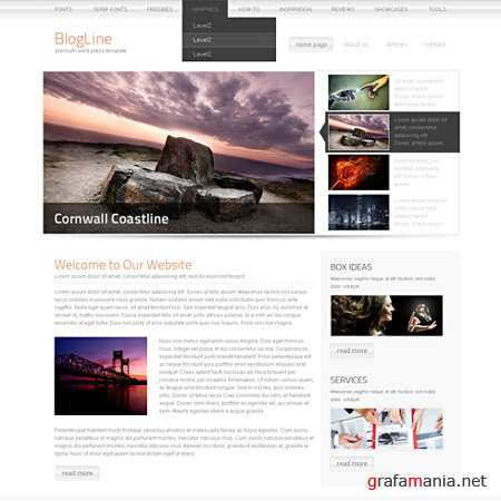 Dynamic CSS Templates Web Blog Corporate Blogbox