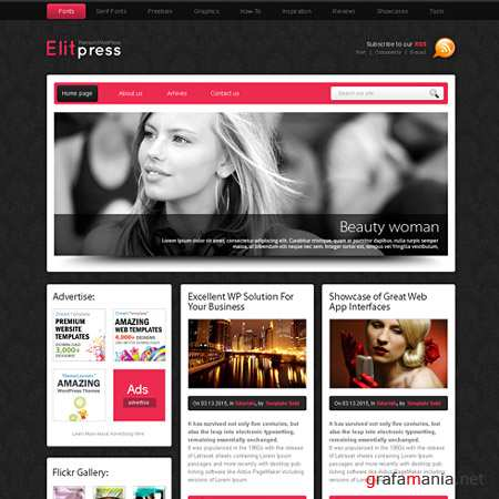 Dynamic CSS Templates Web Blog Corporate Pinkpanther
