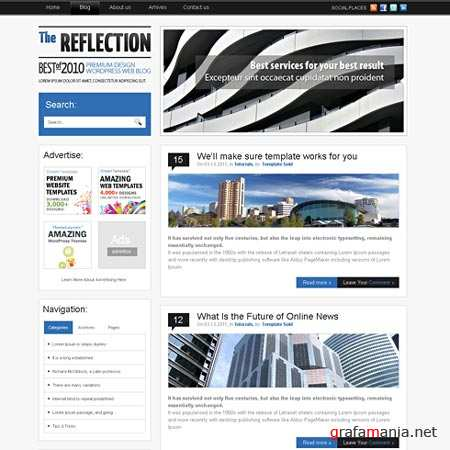Dynamic CSS Templates Web Blog Corporate Reflection
