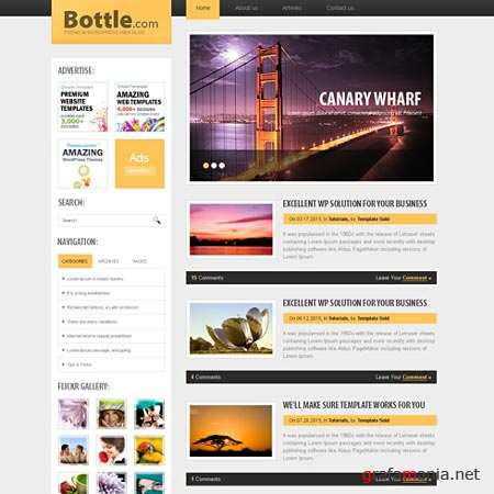 Dynamic CSS Templates Web Blog Corporate Bottletop