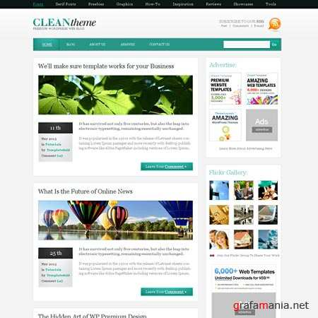 Dynamic CSS Templates Web Blog Corporate Cleanone