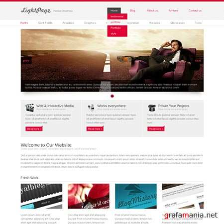 Dynamic CSS Templates Web Blog Corporate Lightpage
