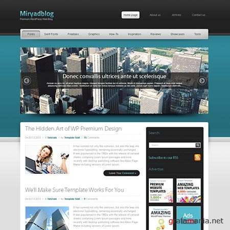 Dynamic CSS Templates Web Blog Corporate Mystical