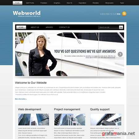 Dynamic CSS Templates Web Blog Corporate Webworld