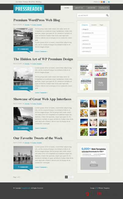 Dynamic CSS Templates Web Blog Corporate Pressreader