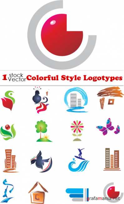 Colorful Style Logotypes Vector