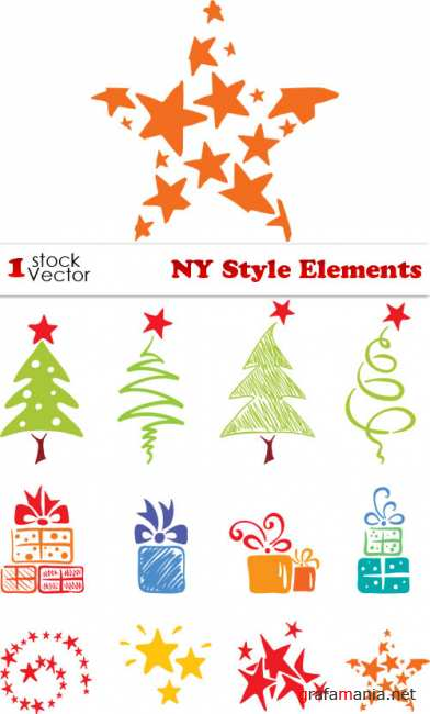 NY Style Elements Vector
