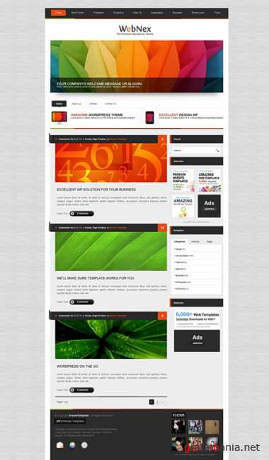 Dynamic CSS Templates Web Blog Corporate Alumnipress