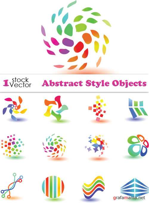 Abstract Style Objects Vector