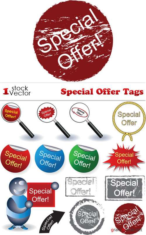 Special Offer Tags Vector