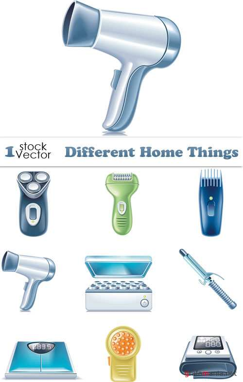 Different Home Things Vector