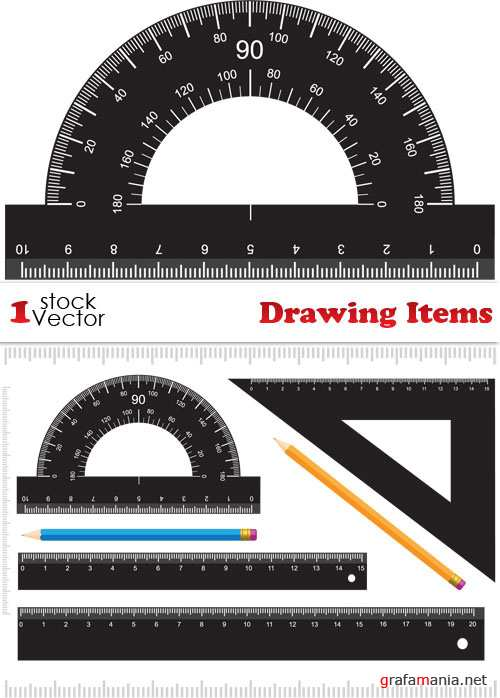 Drawing Items Vector