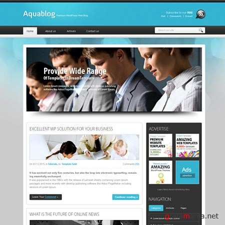 Dynamic CSS Templates Web Blog Corporate Aquafuse