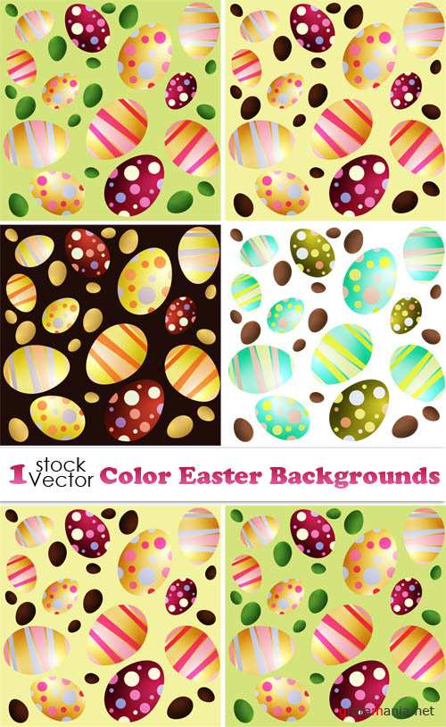 Color Easter Backgrounds Vector