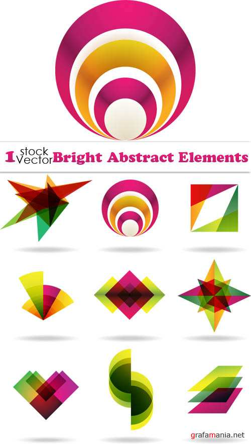 Bright Abstract Elements Vector