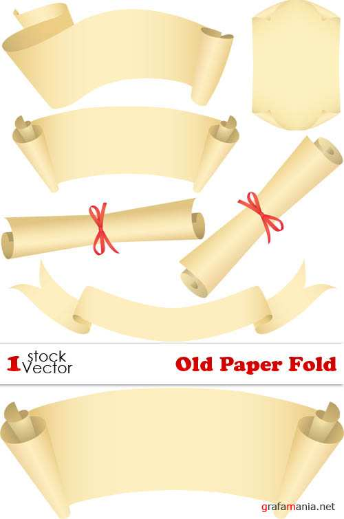Old Paper Fold Vector