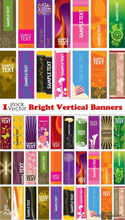 Bright Vertical Banners Vector