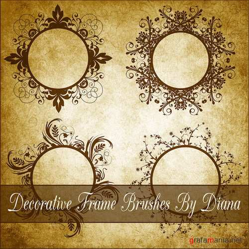 Decor Frame Brushes 5  By Diana Creations  Кисти - рамки 5