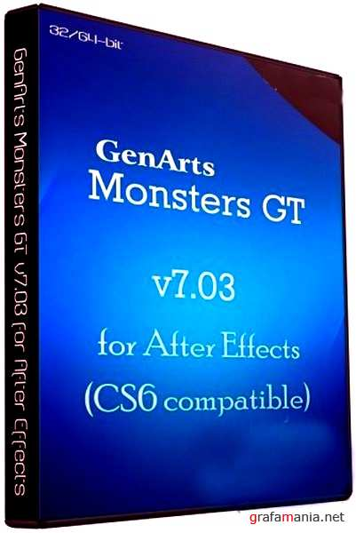 GenArts Monsters GT v7.03 for After Effects (CS6 compatible) 32x64