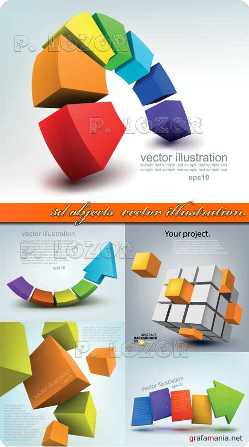3D объекты | 3d objects  vector illustration