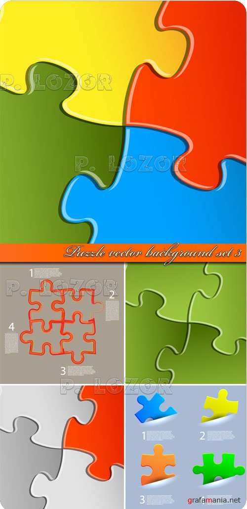 Фоны пазлы часть 3 | Puzzle vector background set 3