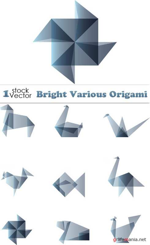 Bright Various Origami Vector