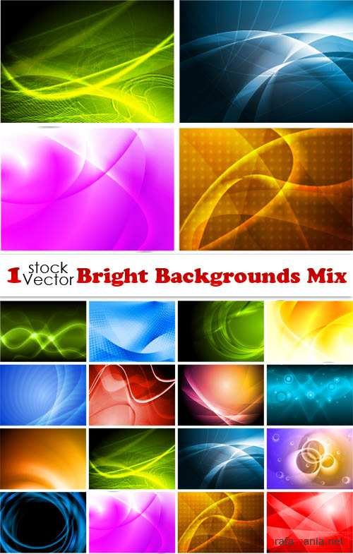 Bright Backgrounds Mix Vector