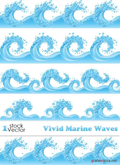 Vivid Marine Waves Vector