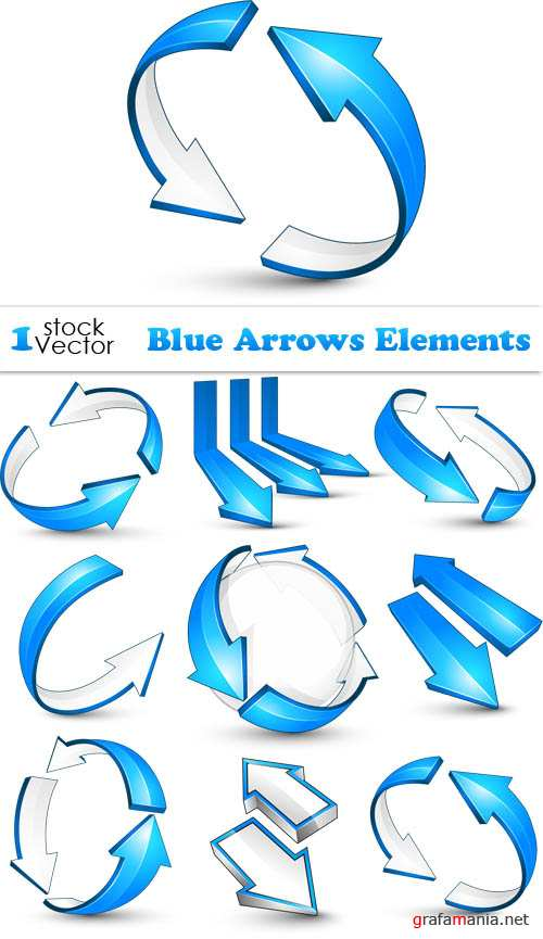 Blue Arrows Elements Vector