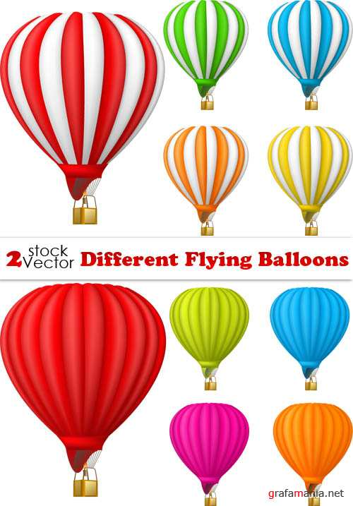 Vectors - Different Flying Balloons