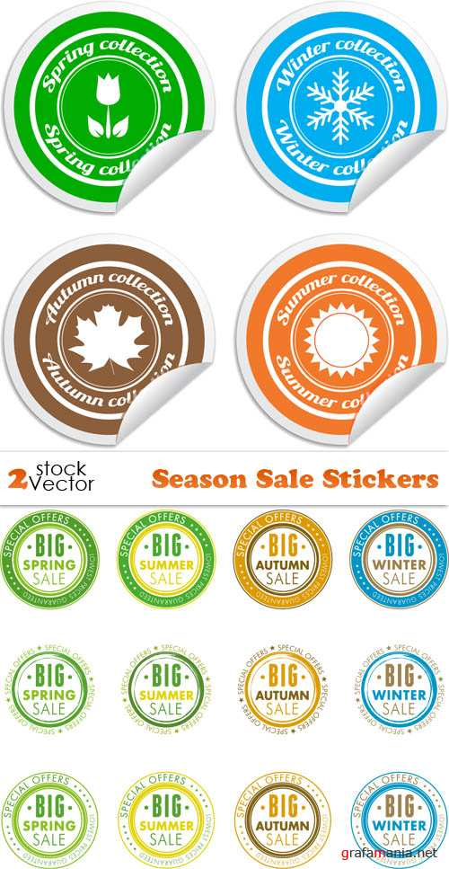 Vectors - Season Sale Stickers