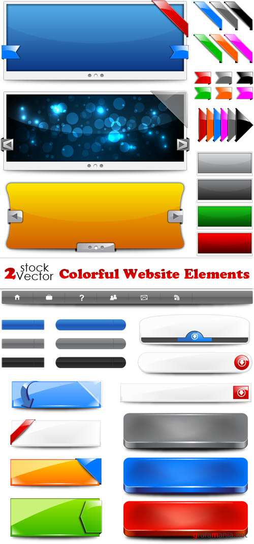 Vectors - Colorful Website Elements