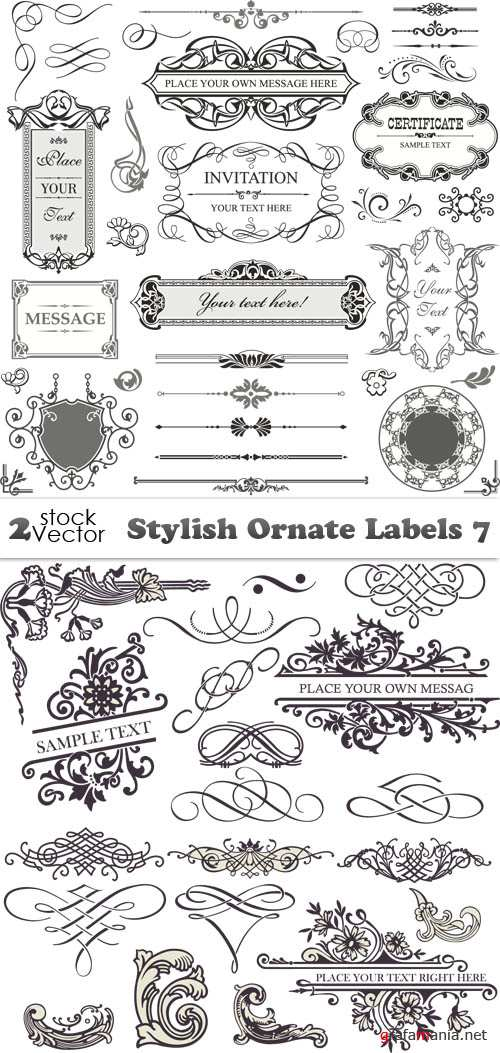 Vectors - Stylish Ornate Labels 7