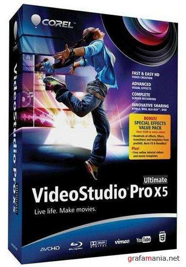 Corel VideoStudio Pro X5 Ultimate + DVD menu + Update SP2 15.2.0.10 ML/Rus