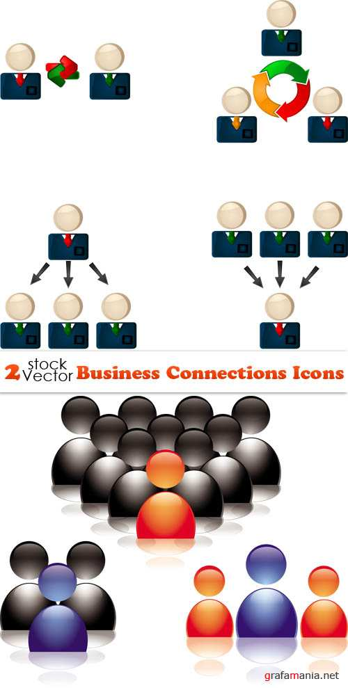 Vectors - Business Connections Icons