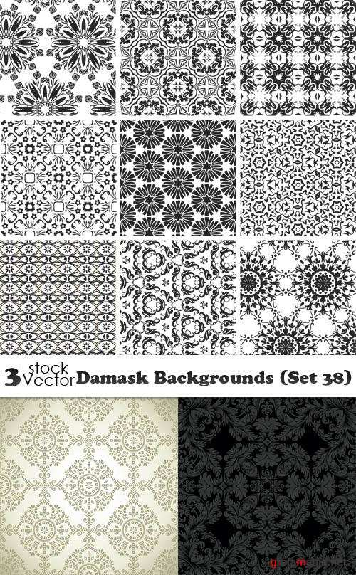 Vectors - Damask Backgrounds (Set 38)