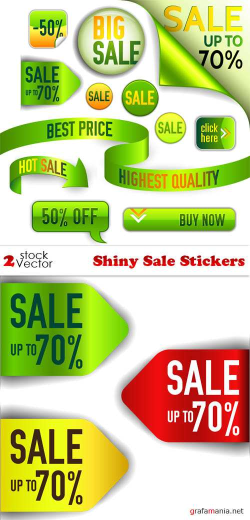 Vectors - Shiny Sale Stickers