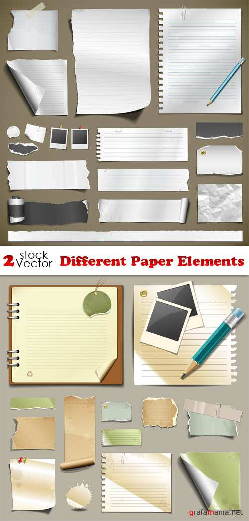 Vectors - Different Paper Elements