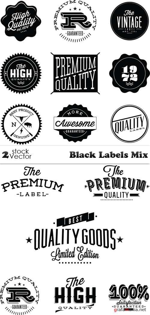 Vectors - Black Labels Mix
