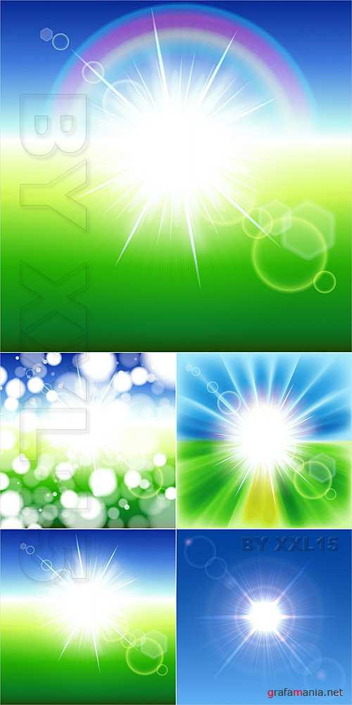 Abstract backgrounds with sunbeams