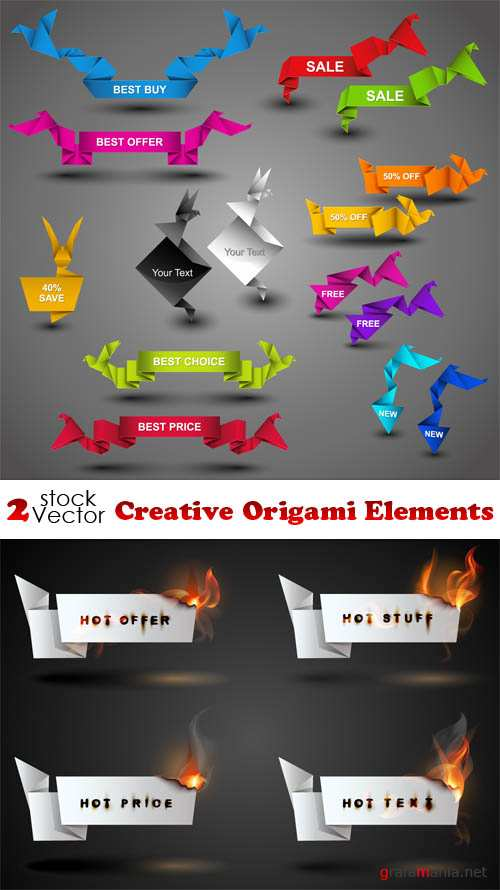 Vectors - Creative Origami Elements