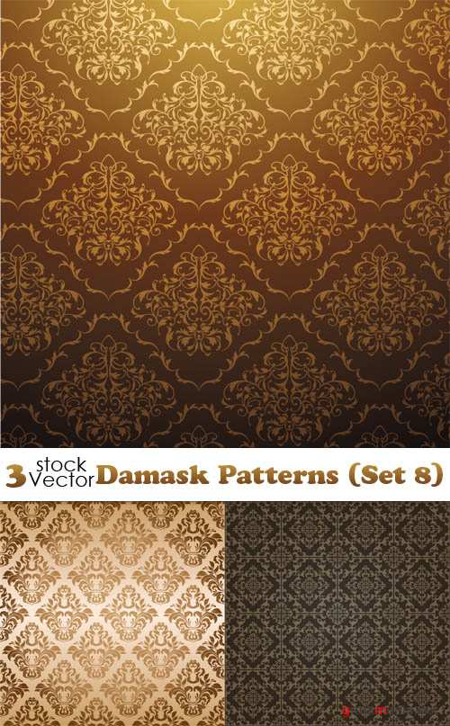 Vectors - Damask Patterns (Set 8)
