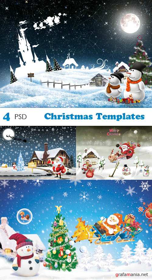 PSD - Christmas Templates Set