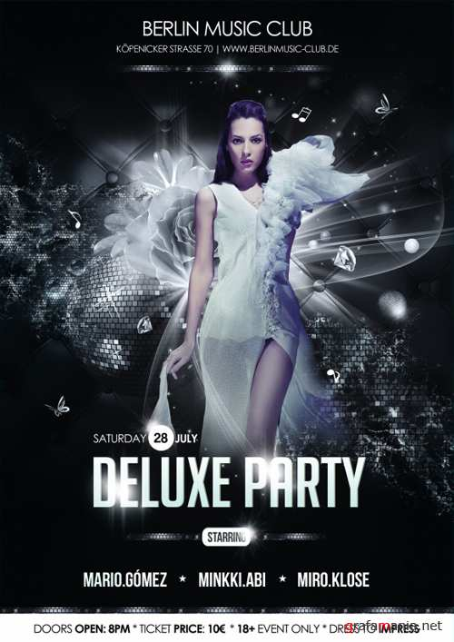 Deluxe Party - Poster PSD Mockup