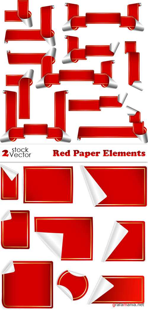 Vectors - Red Paper Elements