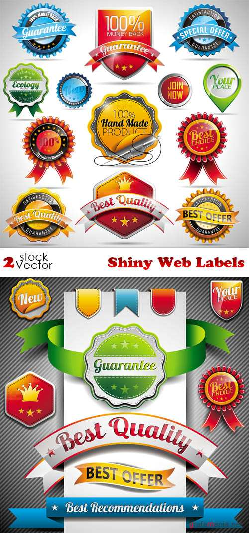 Vectors - Shiny Web Labels