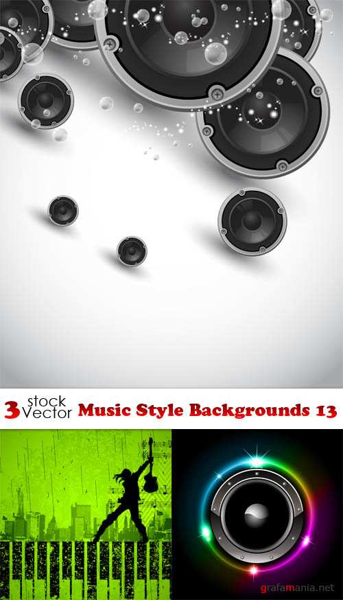 Vectors - Music Style Backgrounds 13