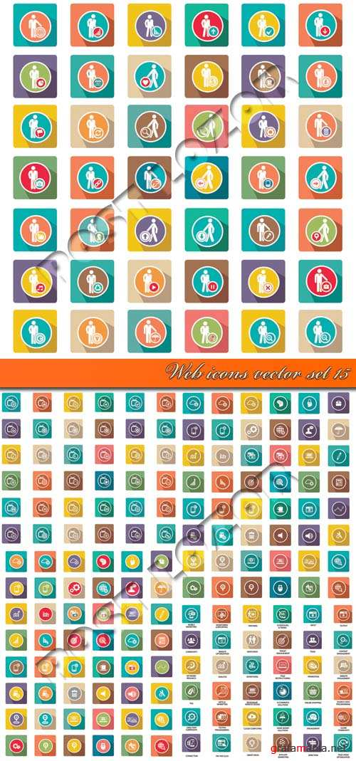 Веб иконки 15 | Web icons vector set 15