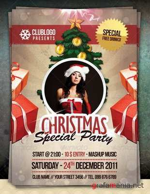 GraphicRiver - Christmas Special Party Flyer 1048799